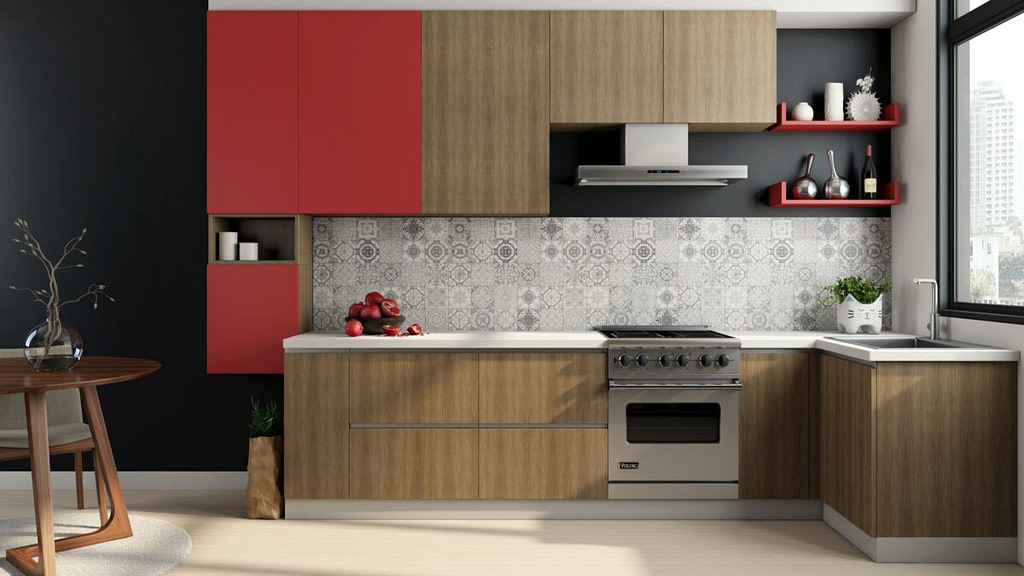 straight modular kitchen modular interior