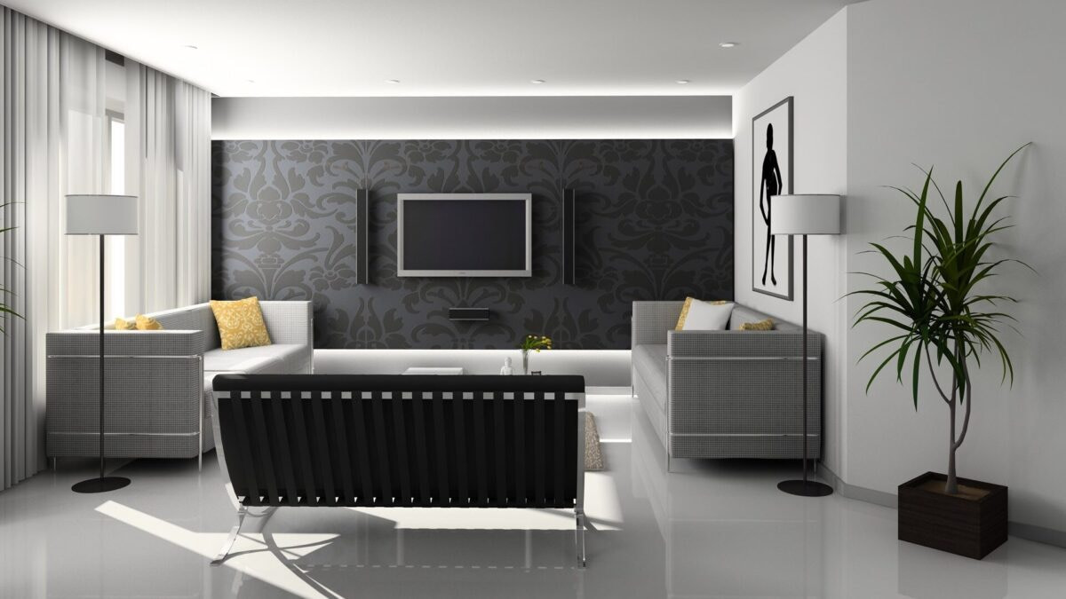 Living room design modular interior 3