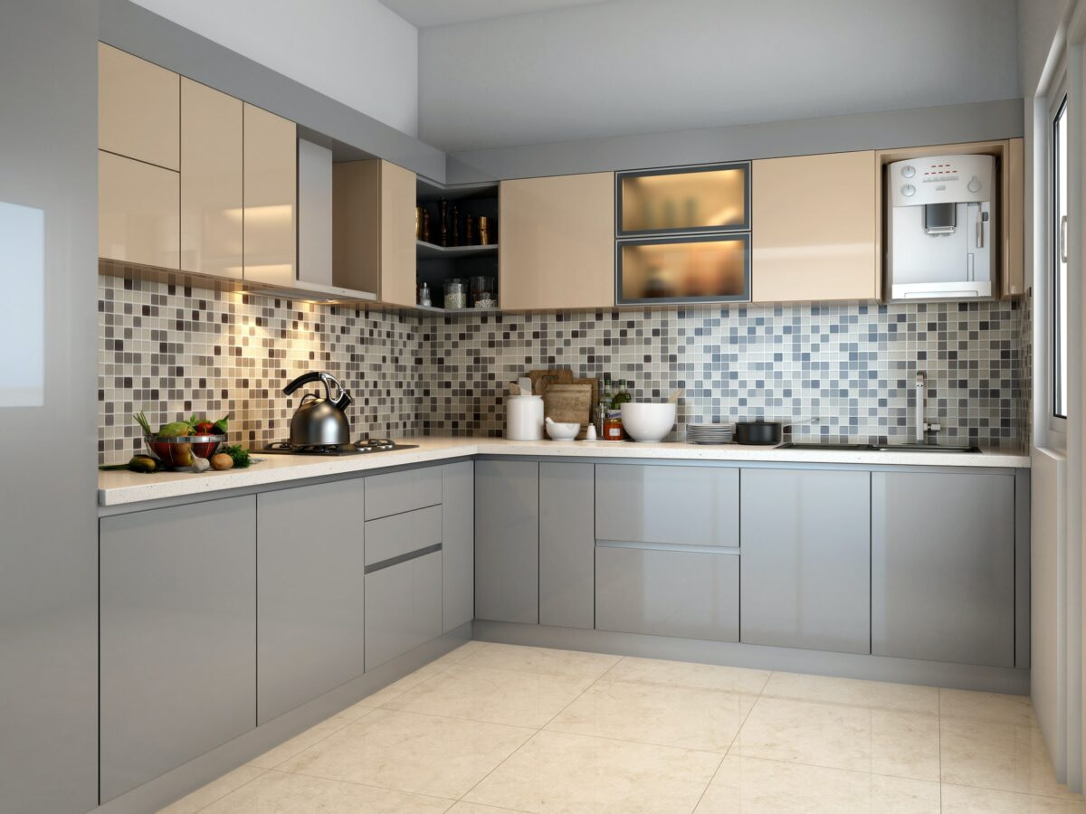 modular kitchen in gorakhpur l shaped kitchen modular interior 1