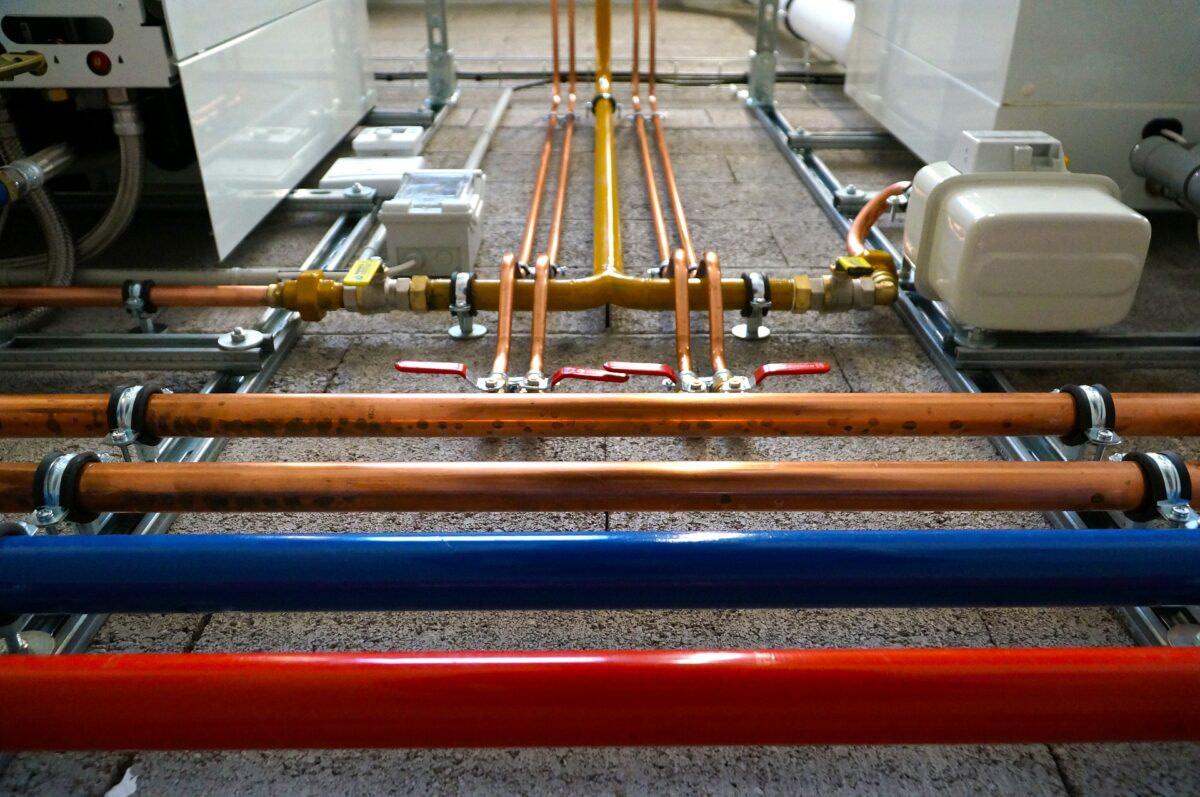 Plumbing work steel pipe modular interior 4