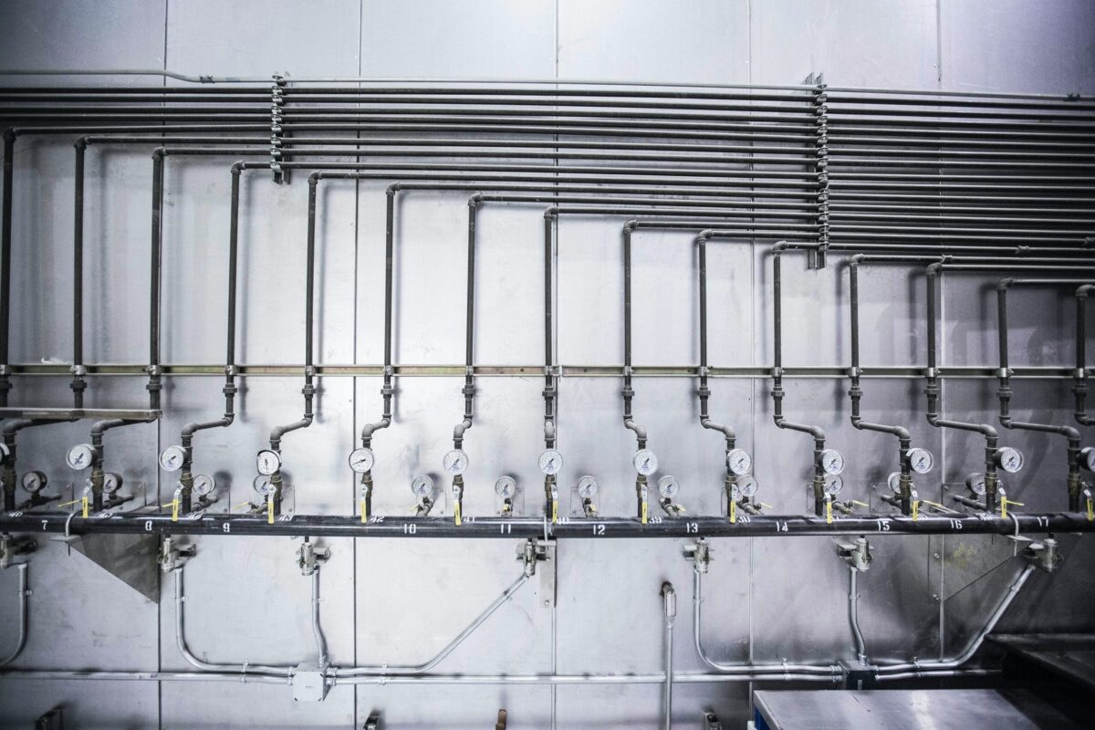 Plumbing work steel pipe modular interior