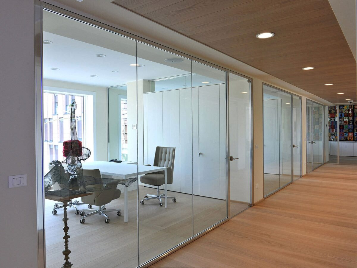 Aluminium, UPVC and glass work partition modular interior 4